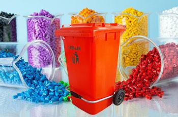 استفاده از مستربچ در محصولات سطل زباله پدالدار 240 لیتری