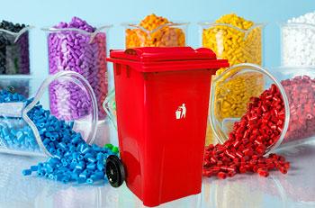 استفاده از مستربچ در محصولات سطل زباله 360 لیتری چرخدار