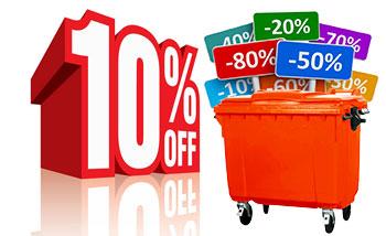 تخفیف ویژه در خرید محصول سطل زباله 660 لیتری مکانیزه