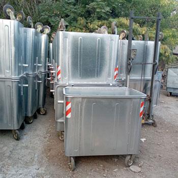 تولید سطل زباله 660 لیتری گالوانیزه