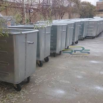 تولید سطل زباله 770 لیتری گالوانیزه