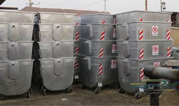 تولید مخزن زباله 1100 لیتری گالوانیزه
