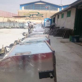 تولید مخزن زباله 770 لیتری گالوانیزه