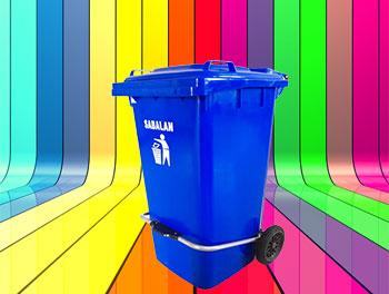 رنگبندی محصول سطل زباله پدالدار 240 لیتری