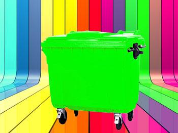 رنگبندی محصول سطل زباله 660 لیتری مکانیزه