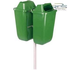 سطل زباله دوقلو پلاستیکی