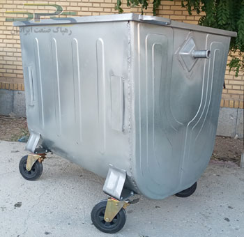 سطل زباله 1100 لیتری محدب