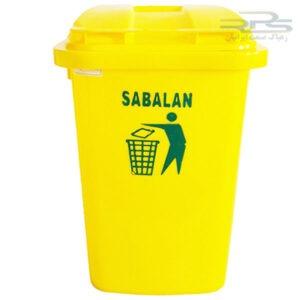 سطل زباله 60 لیتری پلاستیکی