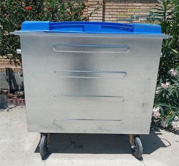 سطل زباله 660 لیتری محدب