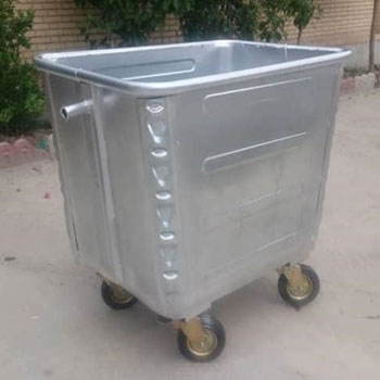 سطل زباله 660 لیتری مکعب پرسی