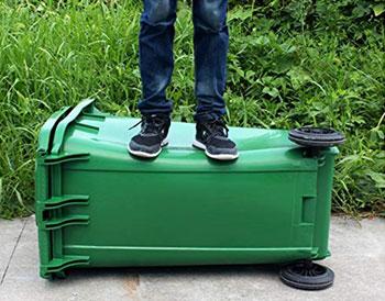مقاومت بالای سطل های زباله پلی اتیلن