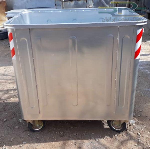 سطل زباله 1100 لیتری مکعب