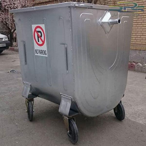 مخزن زباله 1100 لیتری گالوانیزه