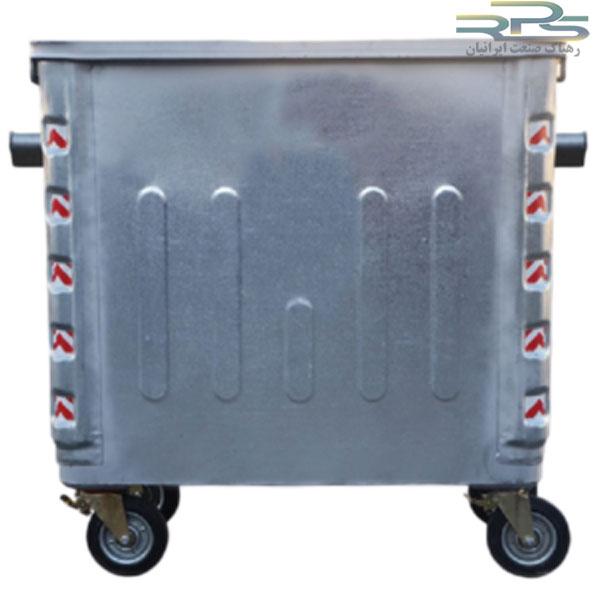 سطل زباله 1100 لیتری مکعب پرسی