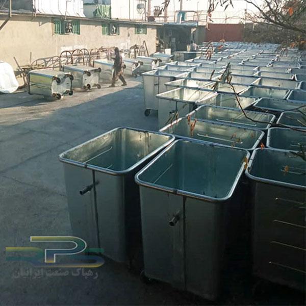 سطل زباله ۷۷۰ لیتری گالوانیزه