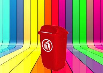 رنگبندی محصول سطل زباله پاندولی پلاستیکی