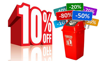 تخفیف ویژه در خریدهای تعداد بالا سطل زباله درب بادبزنی