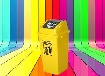 رنگبندی محصول سطل زباله درب بادبزنی