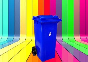 رنگبندی محصول سطل زباله 100 لیتری چرخدار