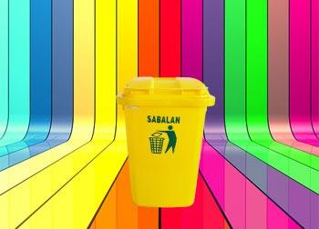 رنگبندی محصول سطل زباله 12 لیتری پلاستیکی