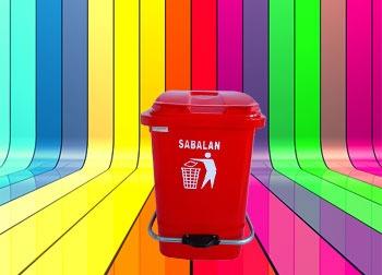 رنگبندی محصول سطل زباله پدالدار 20 لیتری