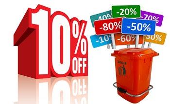 تخفیف ویژه در خریدهای تعداد بالا سطل زباله پدالدار 20 لیتری