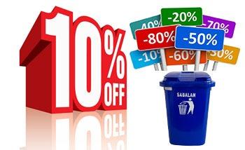تخفیف ویژه در خریدهای تعداد بالا سطل زباله 12 لیتری پلاستیکی