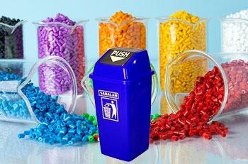 استفاده از مستربچ در محصولات سطل زباله درب بادبزنی