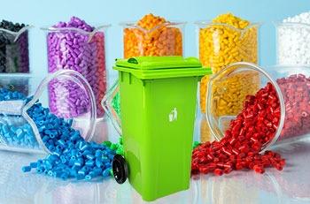 استفاده از مستربچ در محصولات سطل زباله 100 لیتری چرخدار