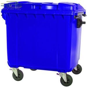 سطل زباله چهار چرخ 660 لیتری